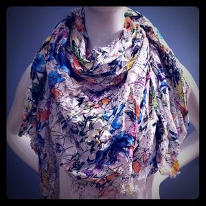 Watercolor Express scarf